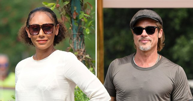 Brad Pitt and Mel B in Venice