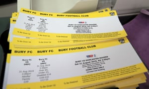 Tickets are printed and ready for what is hoped to be Bury's opening game against Doncaster Rovers on Saturday.