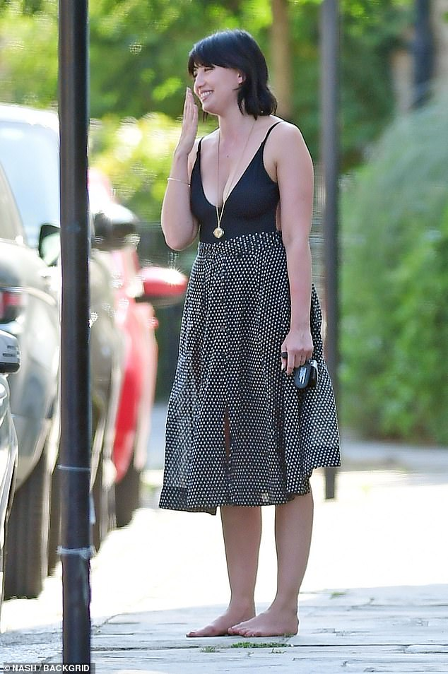 Stunning:Daisy Lowe showcased her sensational physique as she put on a very busty display while walking barefoot in London on Wednesday