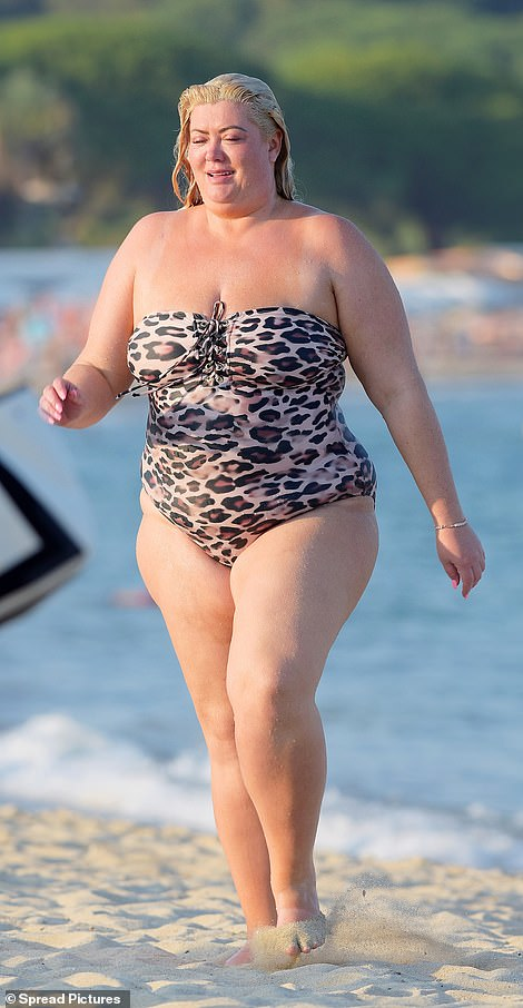 All is well! Gemma Collins, 38, proved she had bounced back from gastroenteritis. as she showed of her weight loss while hitting the beach in sun-drenched Saint Tropez on Tuesday