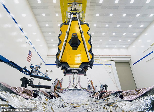 The much-maligned James Webb telescope (pictured) was intended to replace the long-serving Hubble telescope but has been plagued with issues and delays