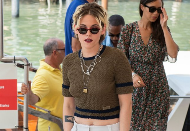 Actress Kristen Stewart poses for photographers upon arrival for the photo call of the film 'Seberg' at the 76th edition of the Venice Film Festival in Venice, Italy, Friday, Aug. 30, 2019. (Photo by Arthur Mola/Invision/AP)