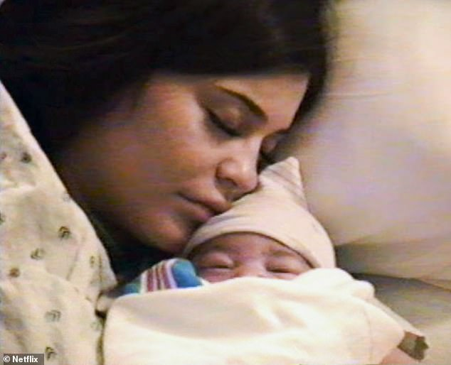 First moments: While keeping her entire pregnancy a secret, Kylie Jenner shared tender raw moments from her birth with her fans on Wednesday, all while promoting Travis Scott's Netflix documentary