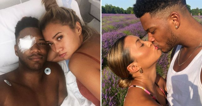 Love Island's Kaz Crossley and Theo Campbell