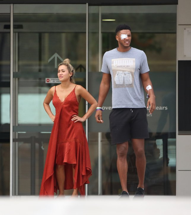 EXCLUSIVE: * min web / online fee 250 gbp for set * * min print fee 250 gnp pp * double pg 1 * Theo Campbell and Kaz Crosley photographed outside Can Misses hospital in Ibiza this evening. Pictured: Ref: SPL5111224 270819 EXCLUSIVE Picture by: SplashNews.com * min web / online fee 250 gbp for set * * min print fee 250 gnp pp * double pg 1 * Splash News and Pictures Los Angeles: 310-821-2666 New York: 212-619-2666 London: 0207 644 7656 Milan: +39 02 56567623 photodesk@splashnews.com World Rights
