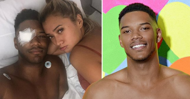 Theo Campbell splits eye in half on holiday in Ibiza