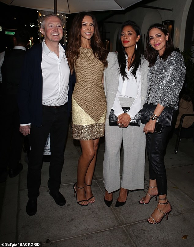 X Factor reunion: Nicole Scherzinger stepped out with Louis Walsh, Simon Cowell's girlfriend Lauren Silverman and the music mogul's ex Terri Seymour at Madeo in LA on Tuesday