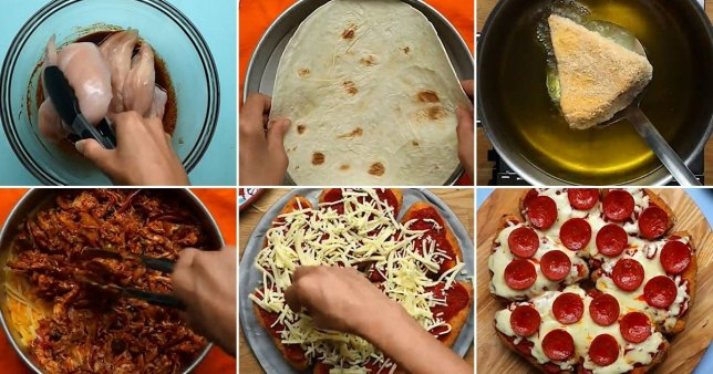 The process of creating the pizzadilla