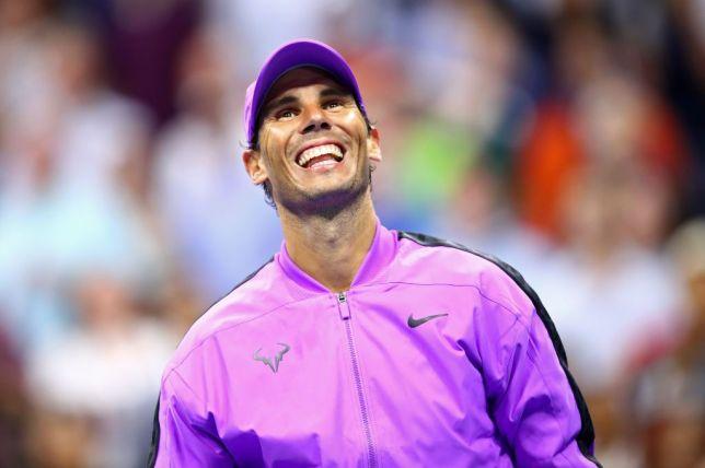 Rafael Nadal smiles after his US Open win against John Millman