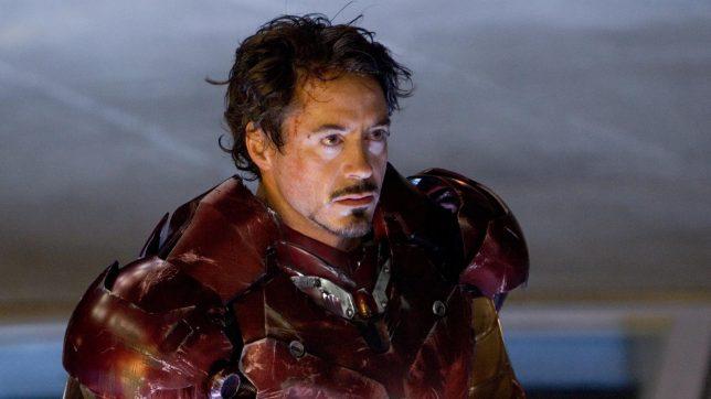 Robert Downey Jr as Iron Man.