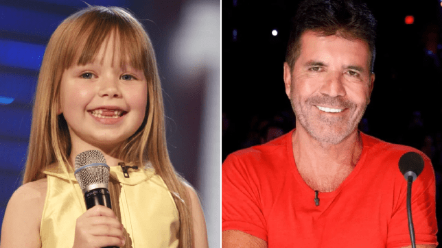 Simon Cowell and Connie Talbot