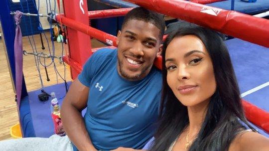 Maya Jama and Anthony Joshua
