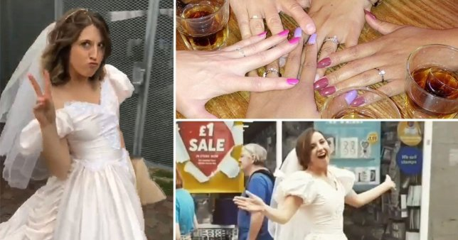 Michele had a wedding themed birthday party