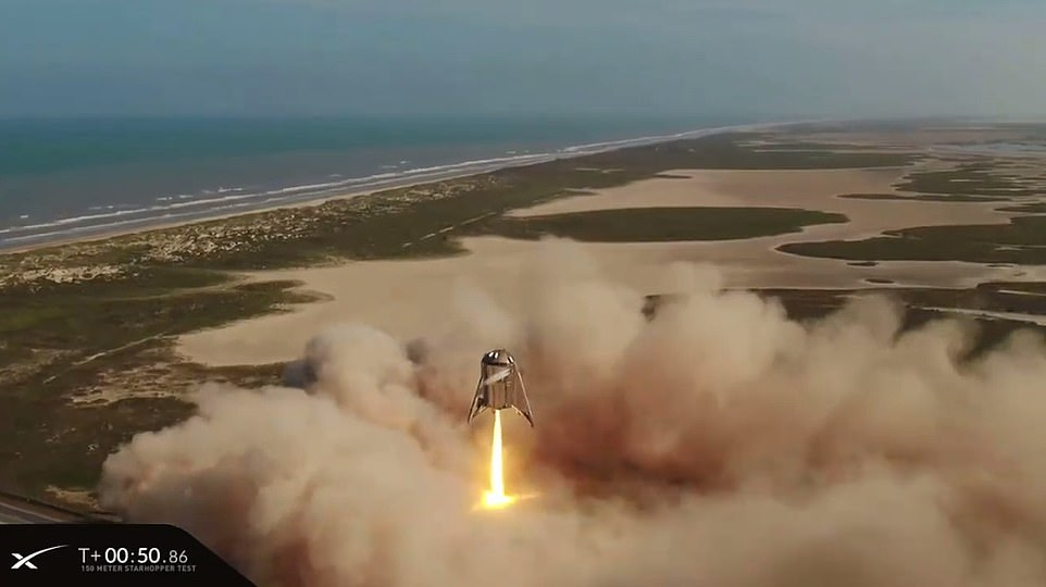The successful test comes after SpaceX was forced to abandon its attempt last night to allow for a last minute inspection of the craft's igniters