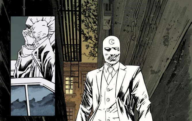 Marc Spector as Mister Knight in Warren Ellis and Declan Shalvey's Moon Knight