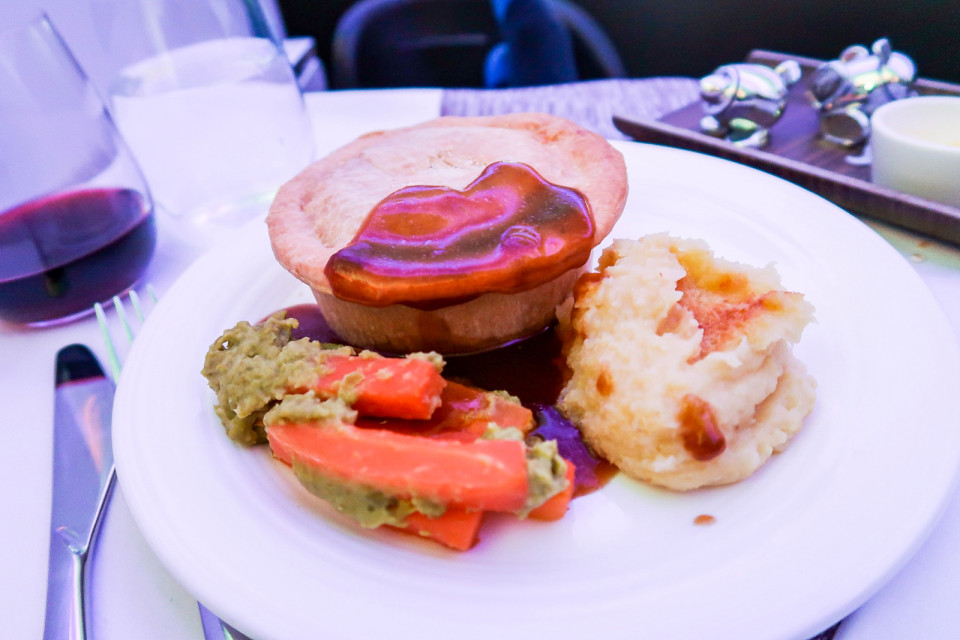 The business class meals in Virgin can even be changed if not happy with a first choice