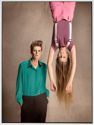 'It's a total no-brainer' … Stella and Iris. Stylist: Bay Garnet for Oxfam's Second Hand September.