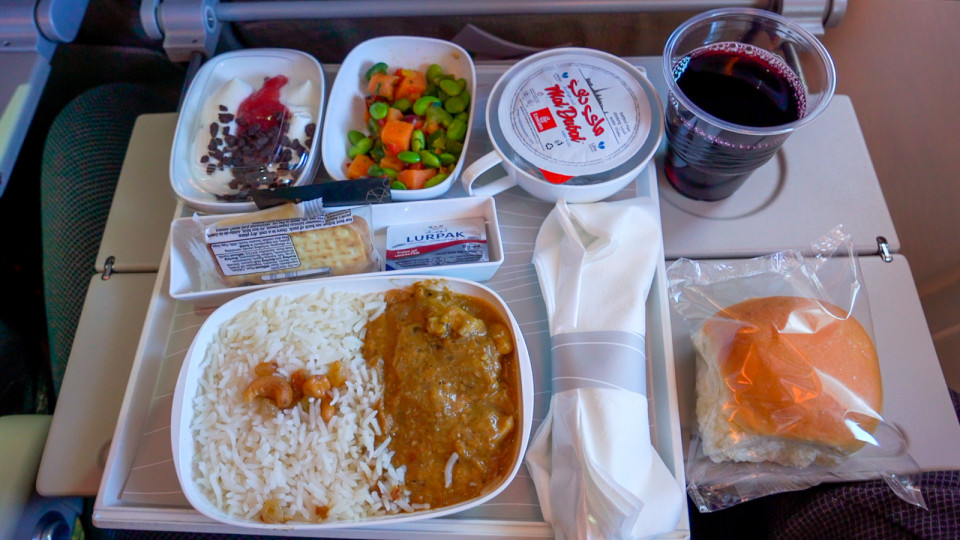 Even Emirates economy has proper dishes and not foil trays, Nicky said
