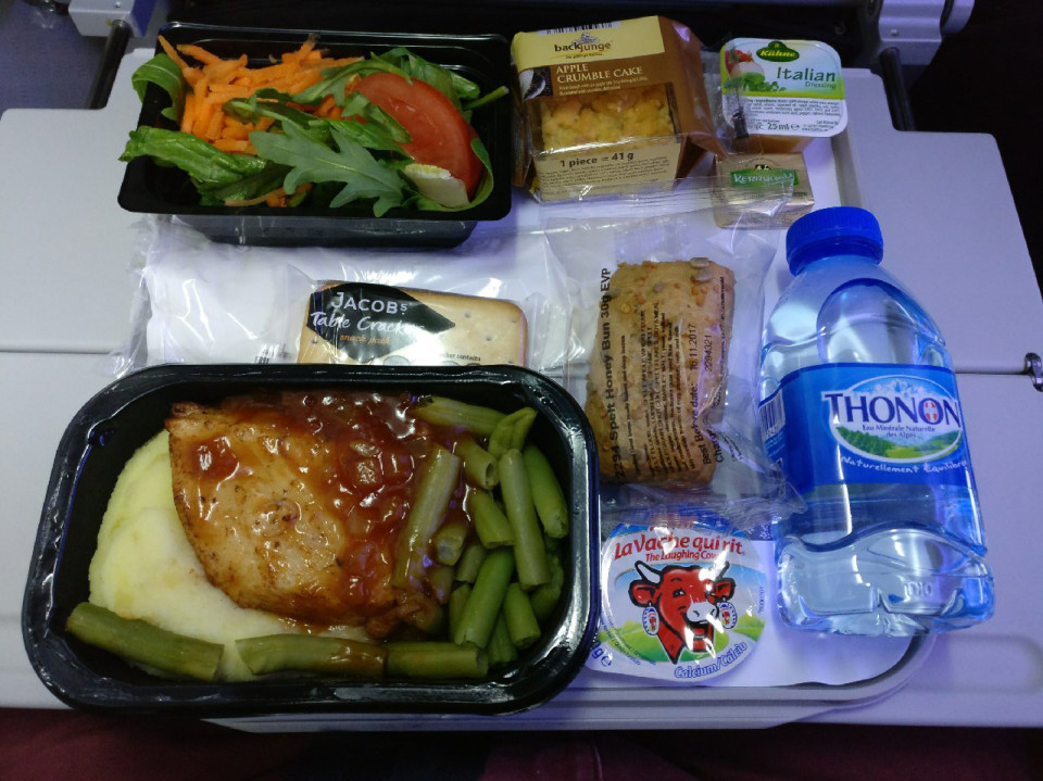 American Airlines economy still includes snacks and salads