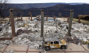 A home leveled by the Camp Fire in Paradise, California. Leveraging private funding, the collaborative has now trained over 400 people in SPR, including first responders working on the 2018 Camp fire.