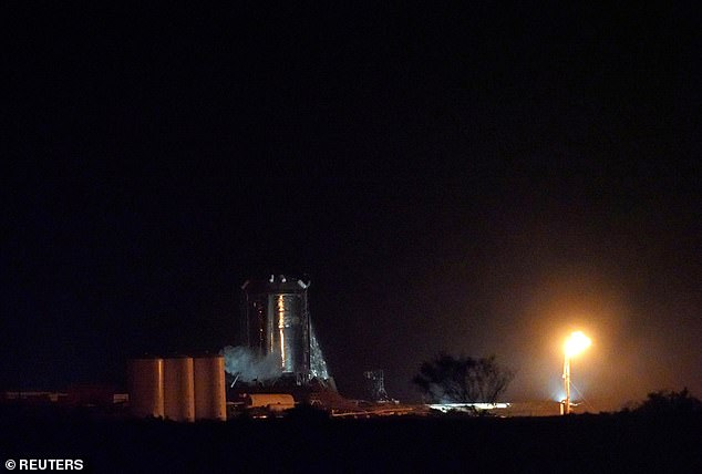 A view of the Starhopper rocket after a successful untethered test of SpaceX's Raptor engine in it at their facility in Boca Chica, near Brownsville, Texas, U.S. July 25, 2019