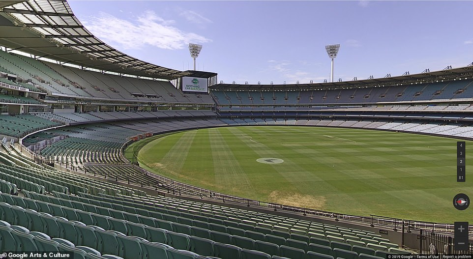 There are also new 360° capability to stand in the middle of the Melbourne Cricket Ground , with a capacity of 100,000 people making it the biggest cricket arena in the world