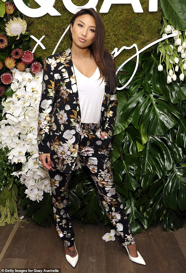 Flower power:Jeannie Mai is pictured above attending the Quay x Chrissy Teigen launch event. Recently, she was Jeezy's date to his charity event last week