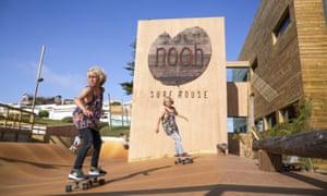 The skatepark at Noah Surf House