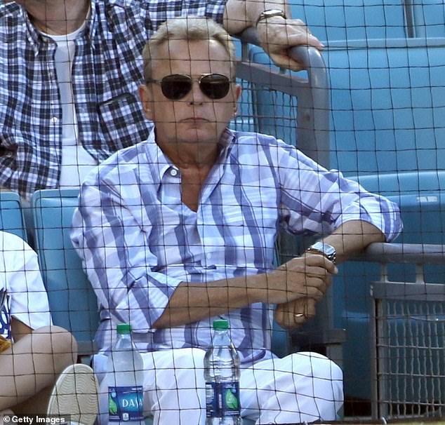 Look who it is: Wheel Of Fortune's Pat Sajak was also in attendance...