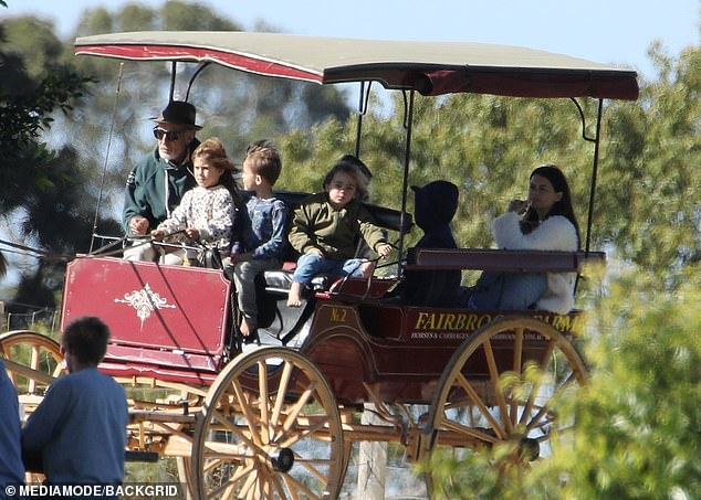 All aboard! The kids enjoyed a ride on an old fashioned horse and cart