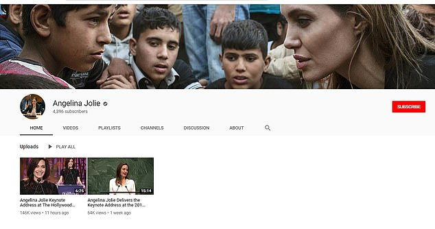 Using her platform: The Academy Award-winner shared two videos on YouTube that showcased her activism and humanitarian work with the United Nations
