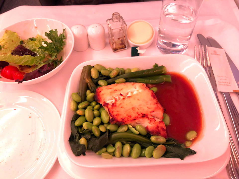 Emirates business class wasn't much of a step up from economy, however