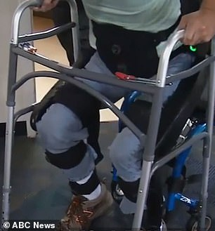 The very act of standing up from his wheelchair was 'so emotional' for Fleming, he told ABC