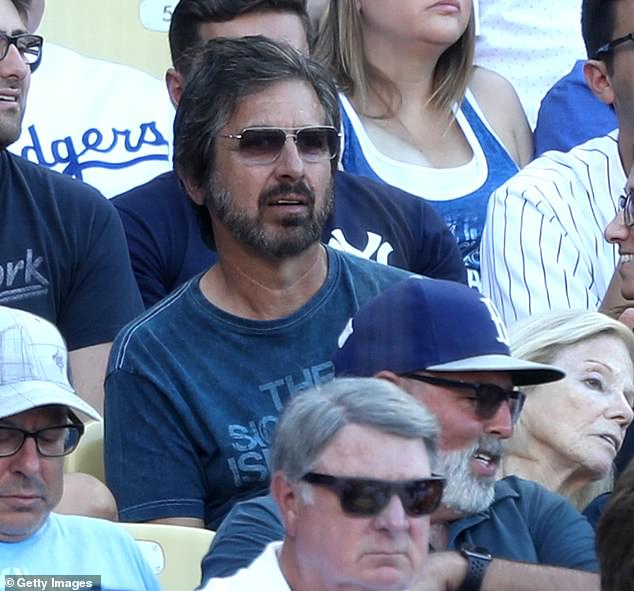 Everybody loves this guy: TV's Ray Romano was also at Dodgers Stadium on Sunday night