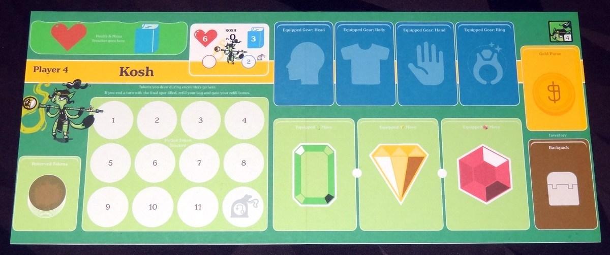 JRPG TAG Kosh player board