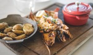 Grilled fish at Noah Beach House restaurant