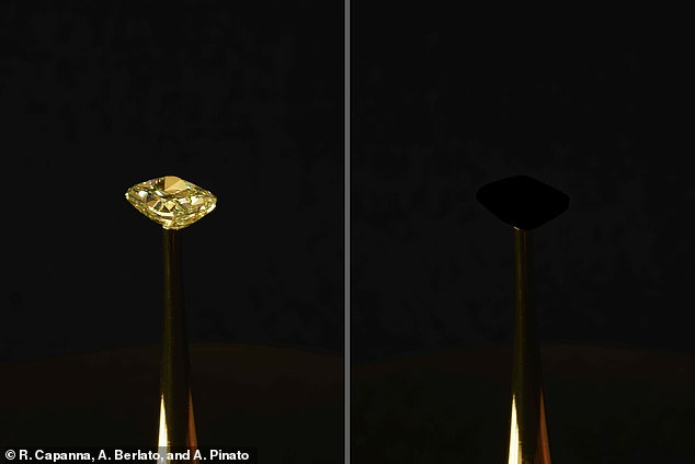 In 2019, researchers from MIT covered a $2 million diamond with what they claimed was the 'blackest black' known to man