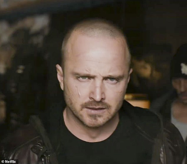 Showdown:Aaron Paul was featured heavily in the first full trailer released for upcoming Netflix film El Camino: A Breaking Bad Movie on Tuesday