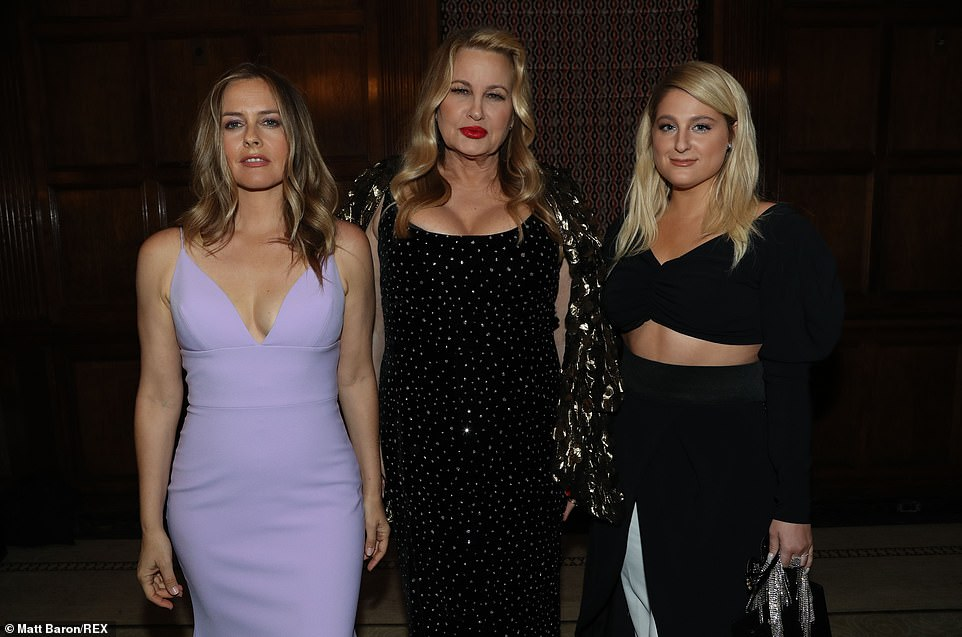 Working it! Among the big names at the show were Jennifer Coolidge and Meghan Trainor