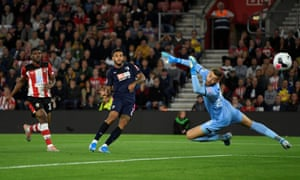 Bournemouth's Joshua King slots the ball home.