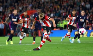 James Ward-Prowse slots in the penalty.