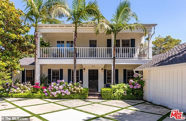 Upscale living: The Superbad and Moneyball actor shelled out $6.77 million for the Colonial-style residence built in 1950 and once owned by Hollywood star Jean Simmons