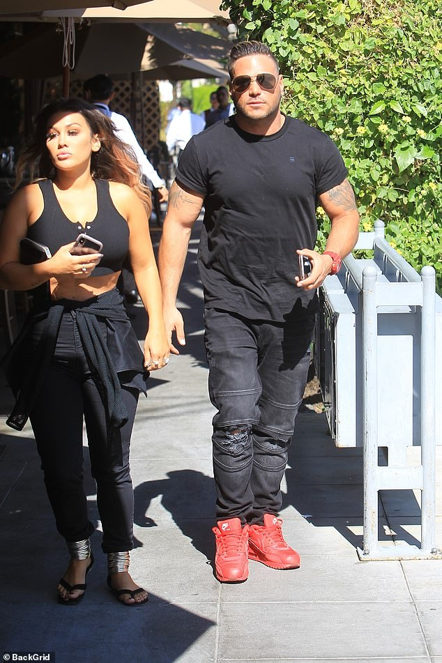 Matching:Both were clad in all-black ensembles as they stepped out in the 90210