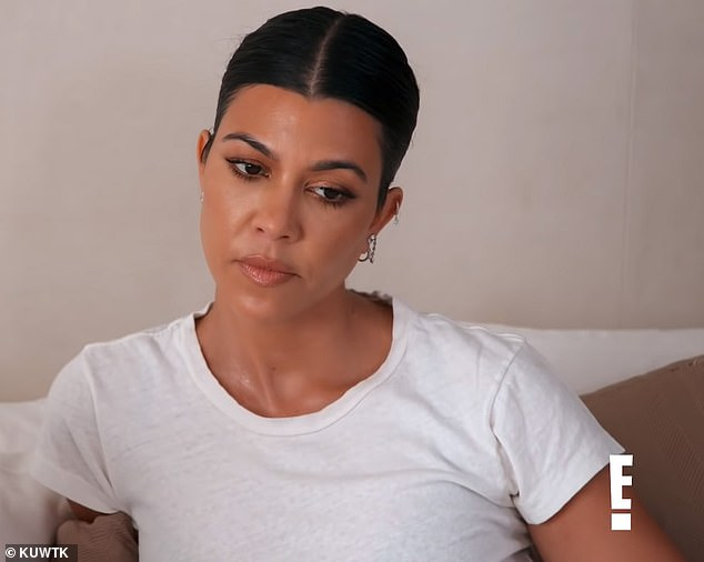 Ouch: Kourtney looked disappointed upon hearing the news