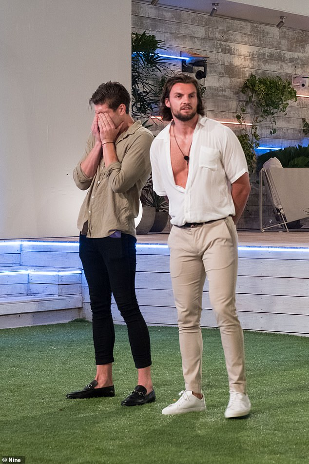 Stepping down: Eoghan Murphy (right) valiantly opted to leave Love Island during Monday's episode so that Matthew Zukowski (left) could stay