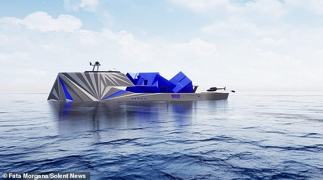 An extraordinary £90 million Arctic super yacht has been designed to perfectly blend in with its frozen landscape - by looking like an iceberg
