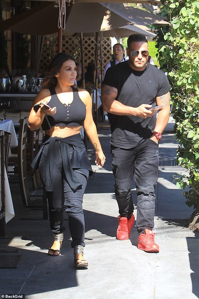 Reunited:Ronnie Ortiz-Magro, 33, and Jen Harley, 32, were seen at the posh Beverly Hills restaurant Il Pastaio Thursday, as Ronnie confirmed the on-again, off-again couple was on again