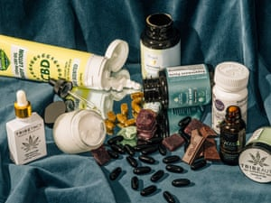 The wide variety of OTC CBD products sampled.