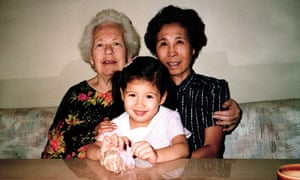 Moss with her grandmothers, 1988.