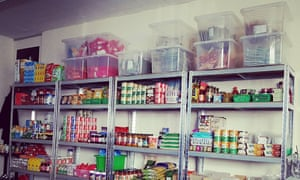 The Norwich Soup Movement's food bank.